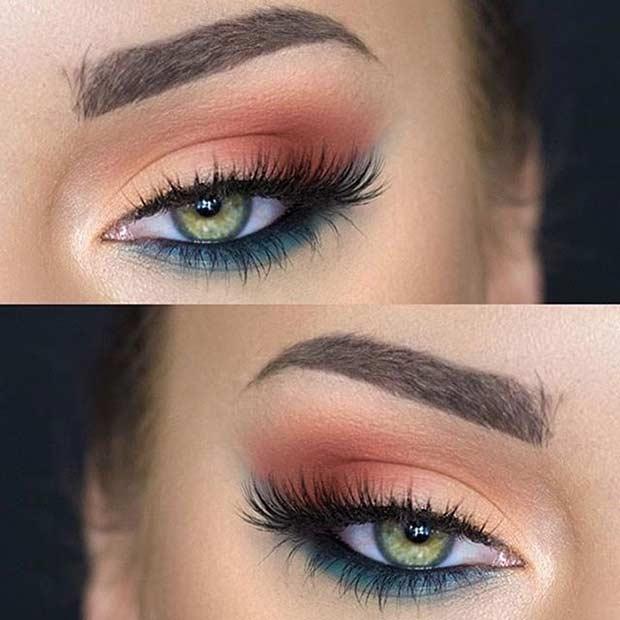 Summer Eye Makeup Look for Green Eyes