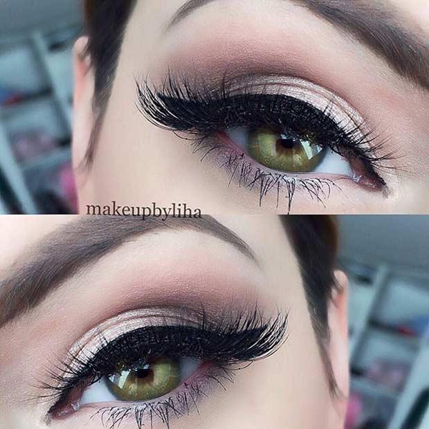 Neutral Eye Makeup Look for Green Eyes