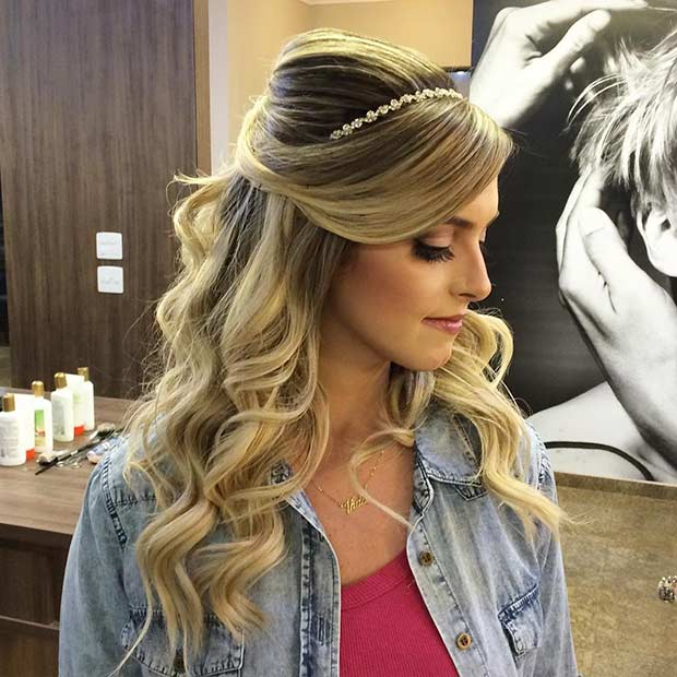 31 Half Up Half Down Hairstyles For Bridesmaids Page 3