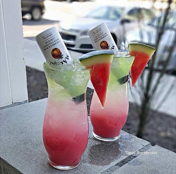 Summer Watermelon Alcoholic Drink