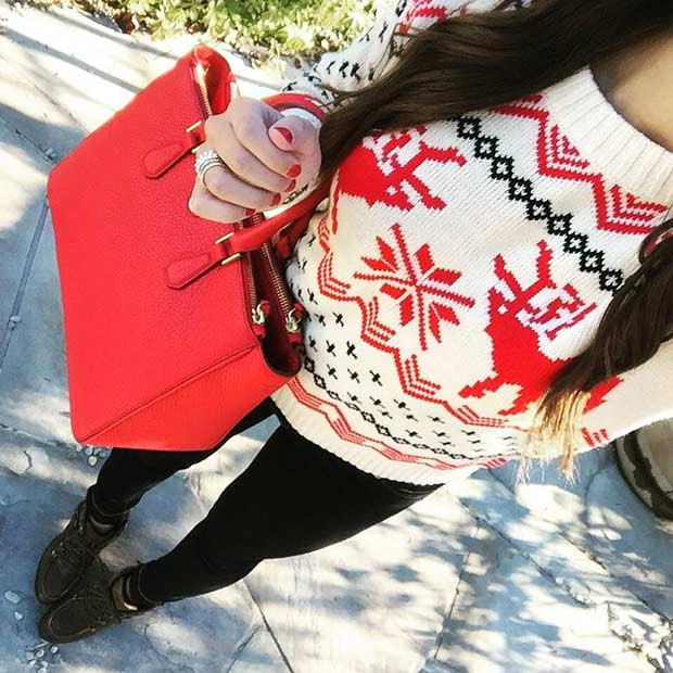 Cute Christmas Jumper Outfit