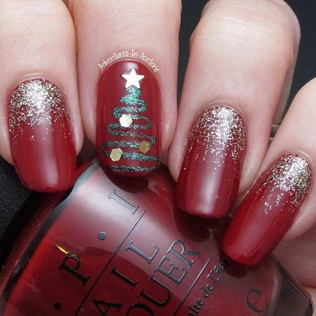 29 Easy Christmas and Winter Nail Ideas - crazyforus