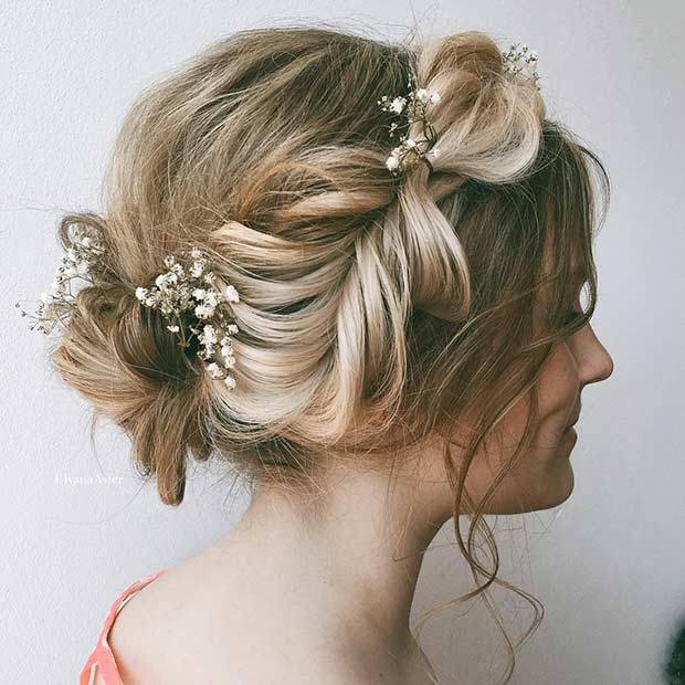 Fishtail Braided Updo for Brides