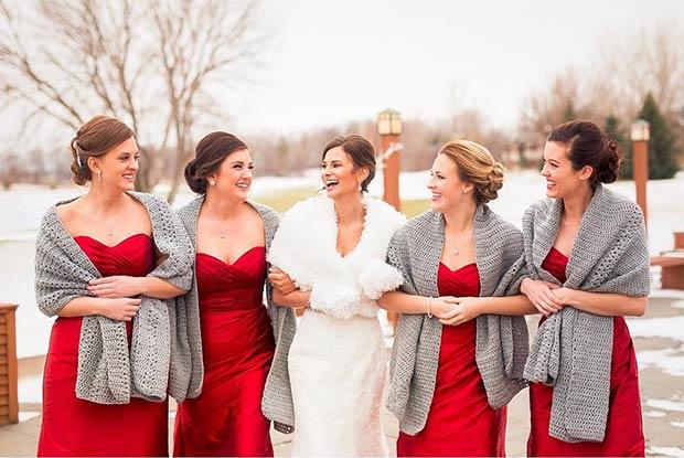 17 Bridesmaid Style Ideas For A Winter Wedding