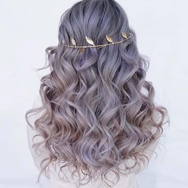Curly Headband Prom Hair Idea