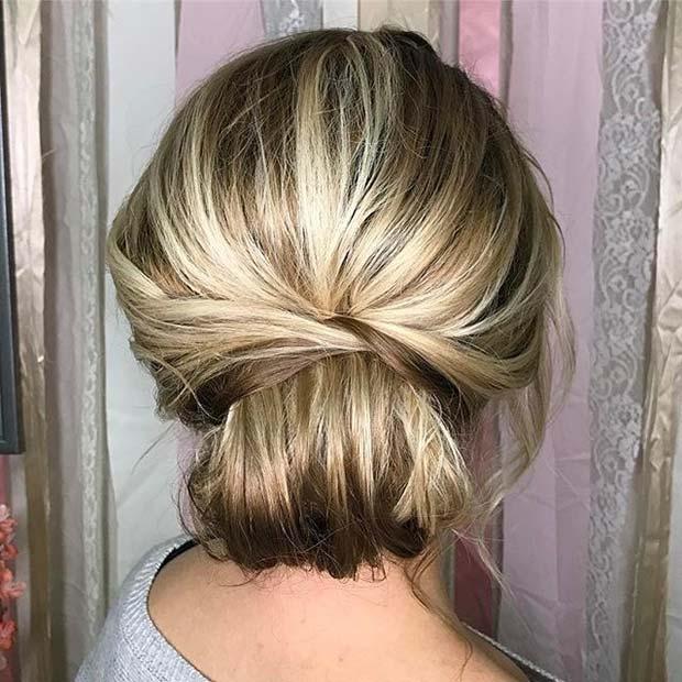 Chignon Prom Hair Idea