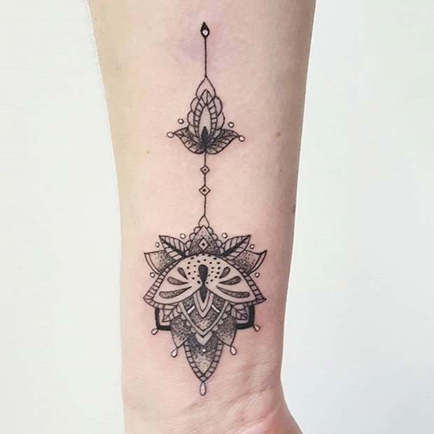 Intricate Large Tattoo for Women's Wrist Tattoo Ideas