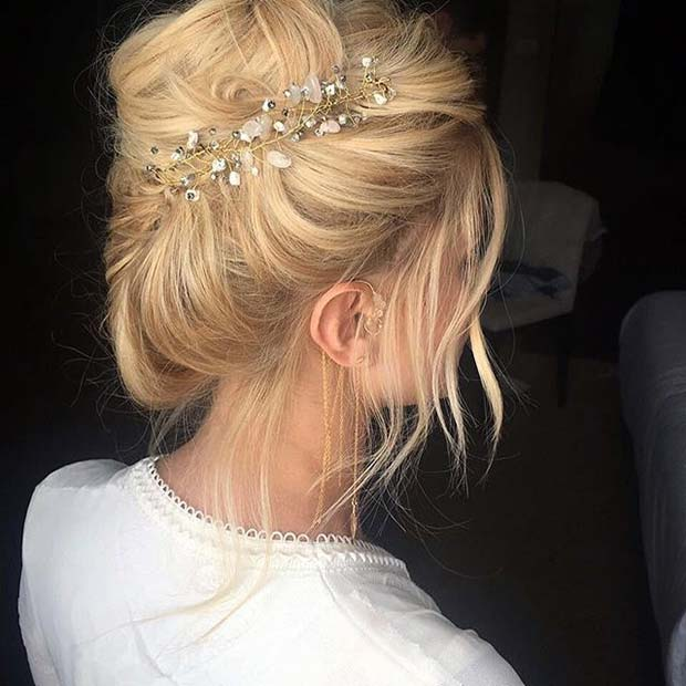 Crystal Updo Hair Idea for Prom
