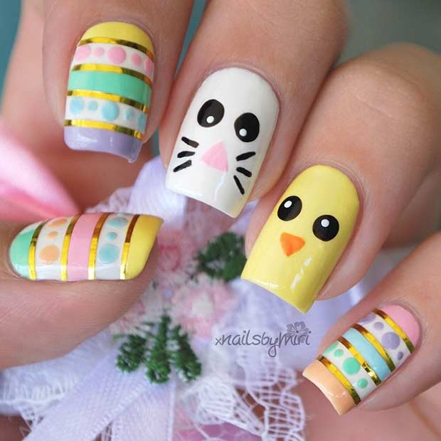 10 easy and simple easter nail art designs crazyforus 10 easy and simple easter nail art designs prinsesfo Choice Image