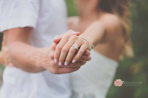 Soft Lighting Ring Photo for Romantic Engagement Photo Idea