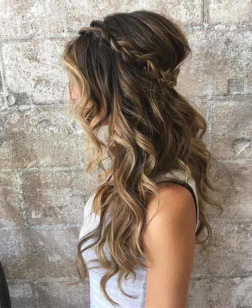 Wedding Hairstyles Boho: 23 Gorgeous Half-Up Wedding Hair Ideas