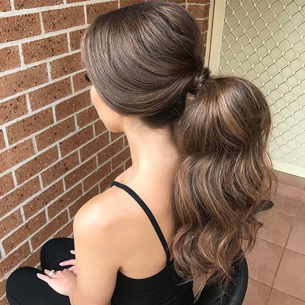 Ponytail with Volume for Elegant Ponytail Hairstyles