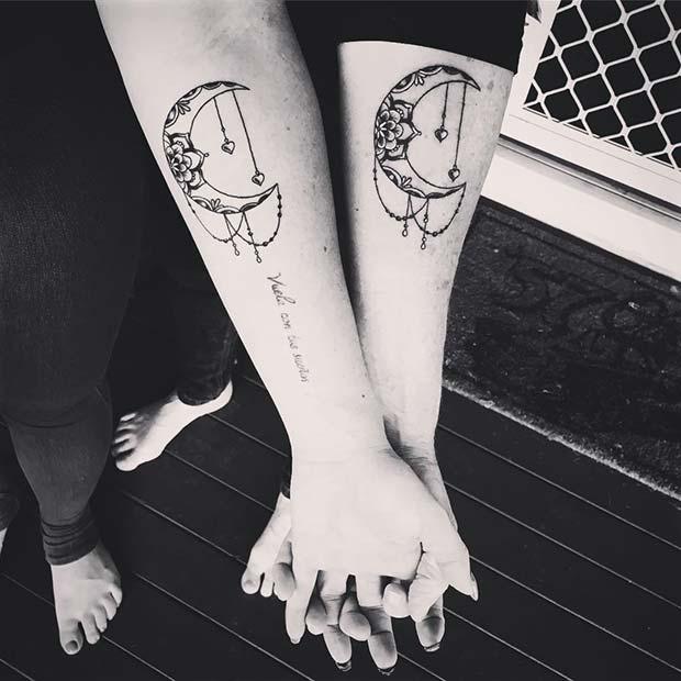 Matching Moon Tattoos
