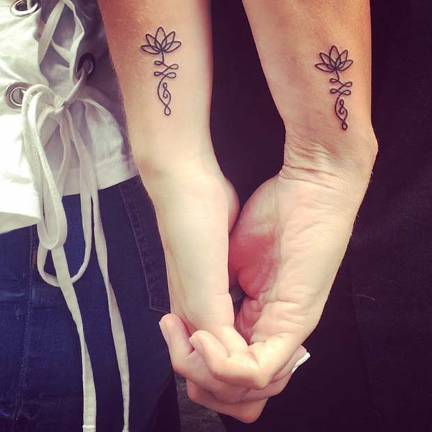 Cute Mother Daughter Affectionate Tattoos: 23 Popular Mother