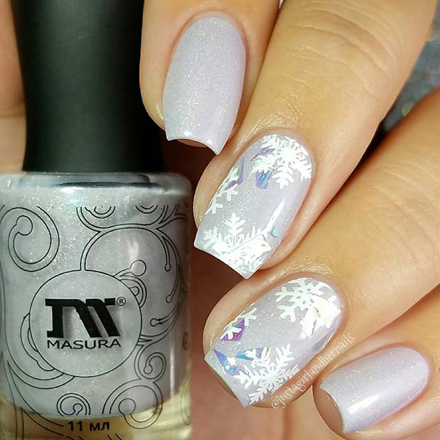 23 Latest Winter-Inspired Nail Art Ideas - crazyforus