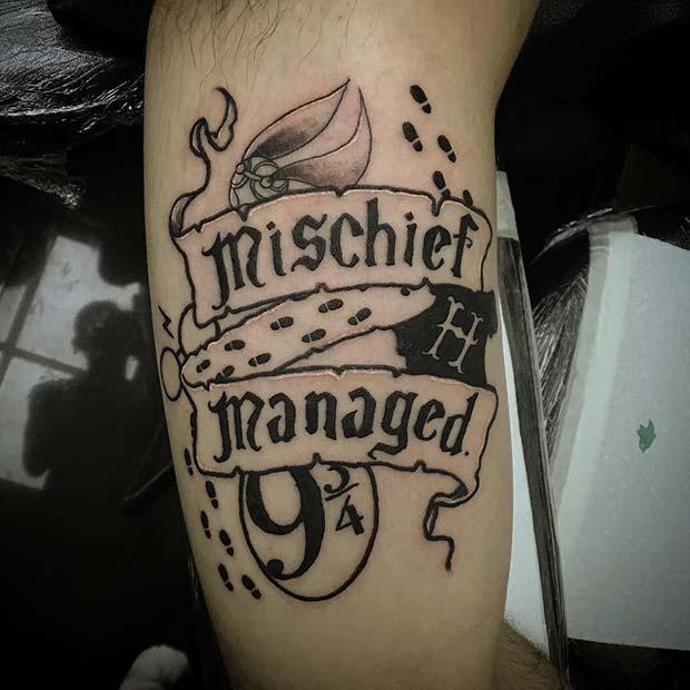 Creative Mischief Managed Tattoo