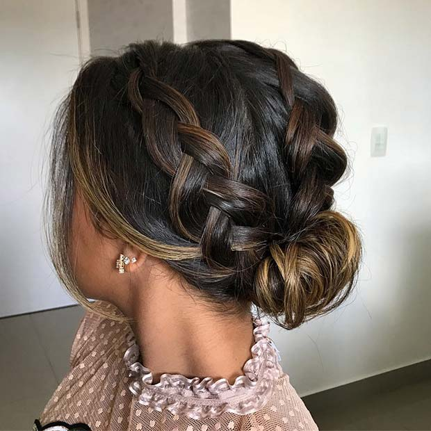 Cute Double Braided Updo