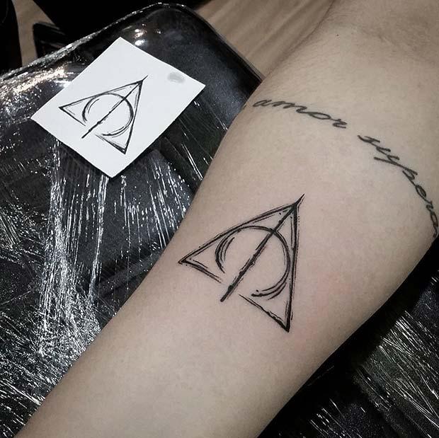 Deathly Hallows Symbol Tattoo Idea