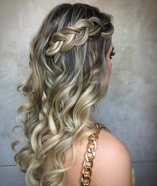 Side Braid with Loose Curls