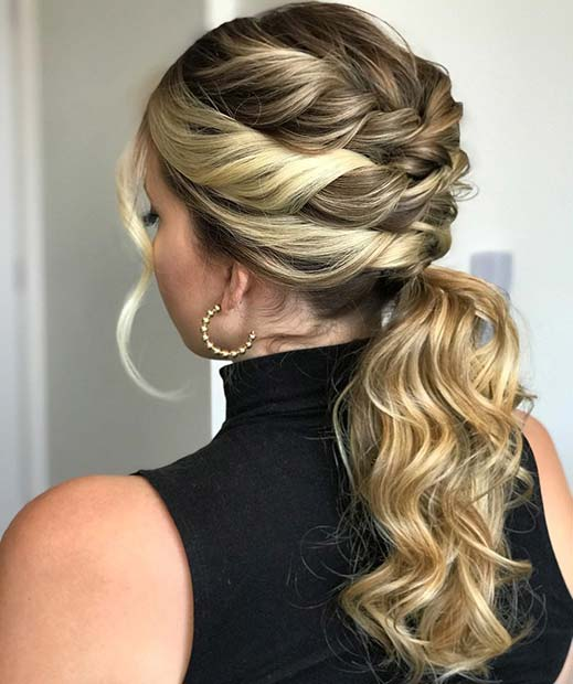 Stylish Ponytail with Twists
