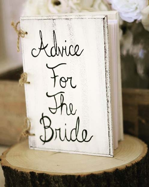 Advice for the Bride Book Idea for Bridal Shower