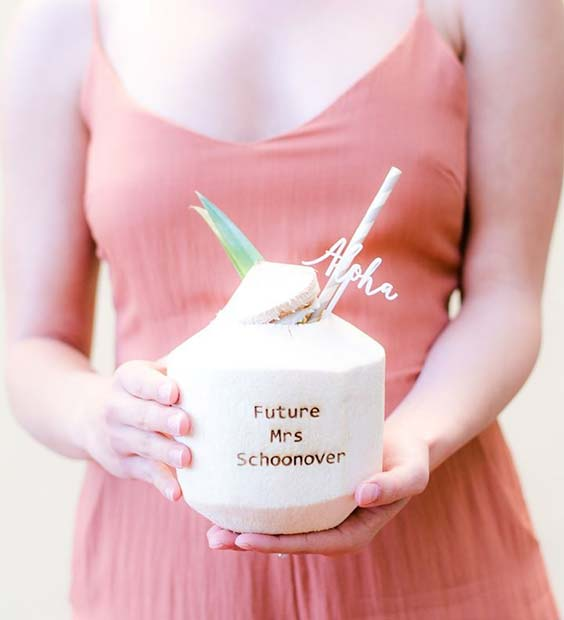 Personalized Drinks for Bridal Shower