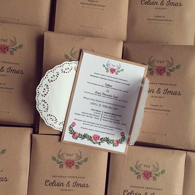 Pretty Vintage Wedding Invitations