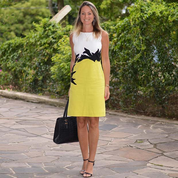 Bold Yellow Dress for Office