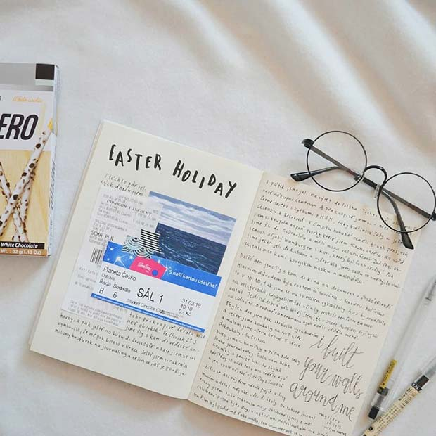 Holiday Page Idea for Bullet Journal