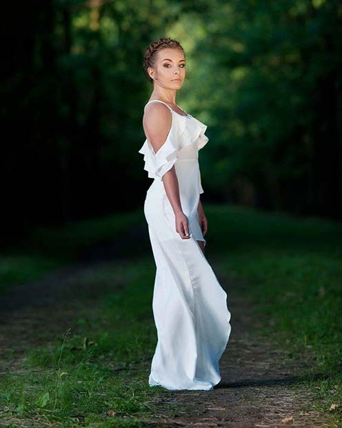 All White Party Maxi Dress