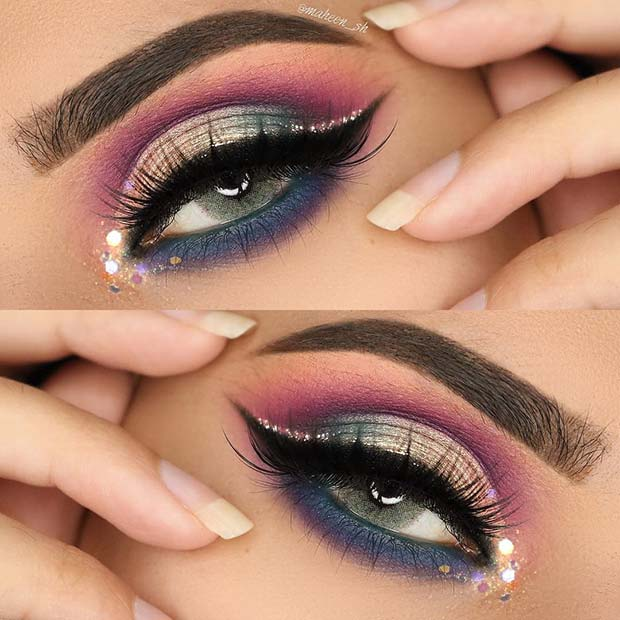 Vibrant Eye Makeup Idea