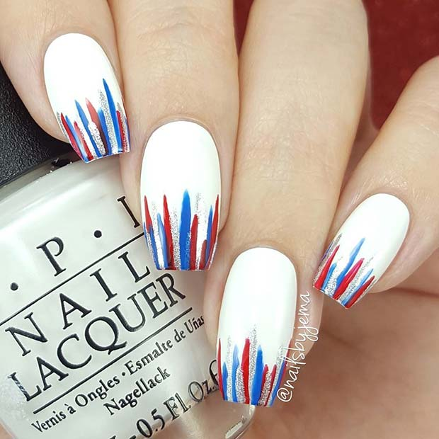 4th of July Coffin Nails