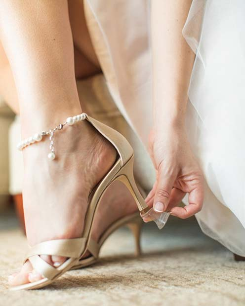 Heel Protectors for an Outdoor Wedding