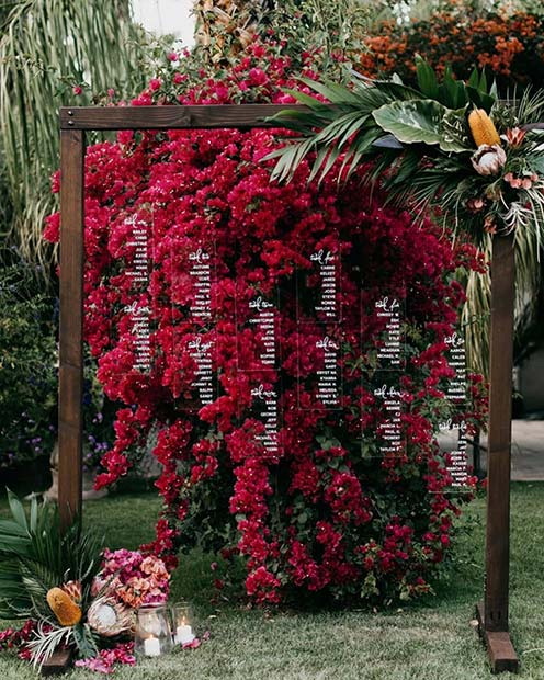 Outdoor Wedding Seating Plan Idea