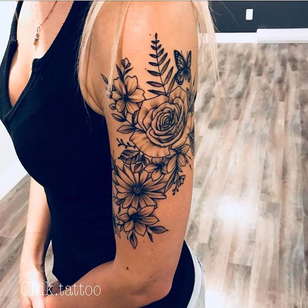 edcd29f3c 13 Flower Tattoo Ideas for Every Women - crazyforus