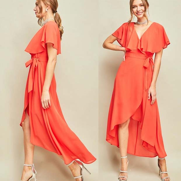 Vibrant Floaty Dress for a Wedding Guest