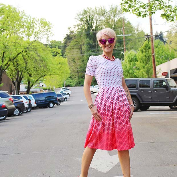 White and Pink Dress for Summer