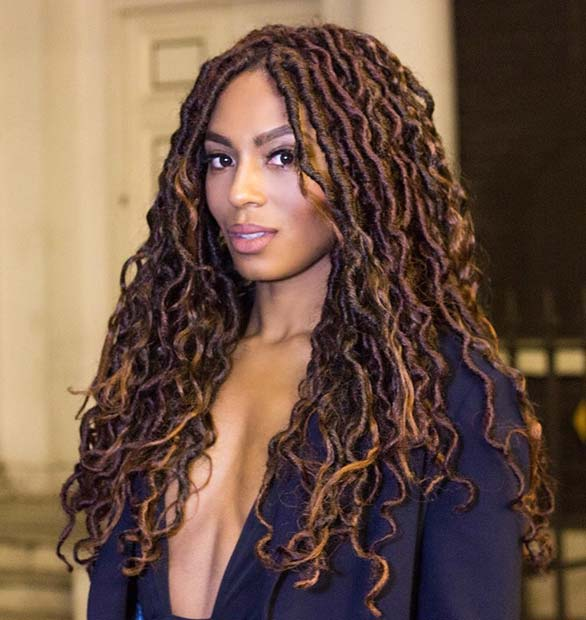 Curly, Bronde Goddess Faux Locs