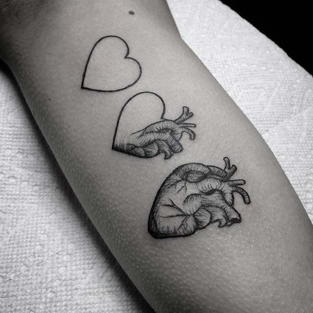 Unique Heart Tattoo Design