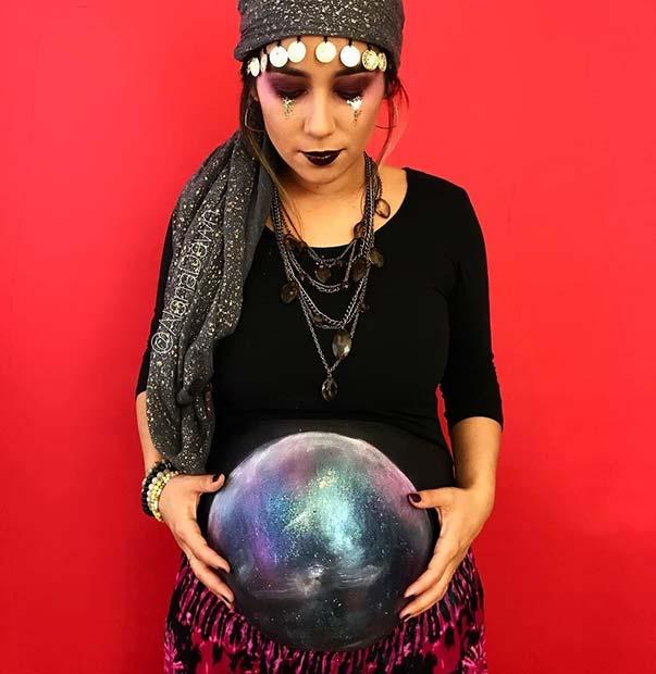 7. Fortune Teller Pregnancy Halloween Costume