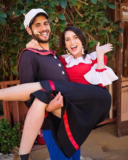 Popeye and Olive Oyl Couples Costume Idea