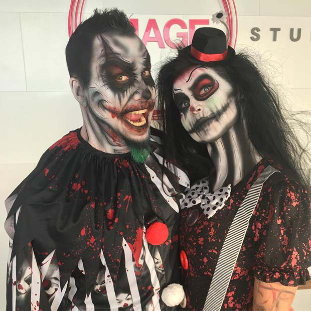 Halloween Costumes For Couples Scary.25 Genius Couples Halloween Costumes Crazyforus