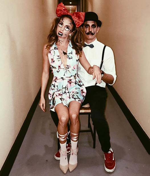 Ventriloquist and Dummy Couples Halloween Costume