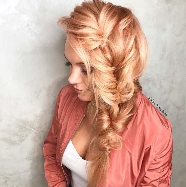 Pastel Strawberry Blonde Hair