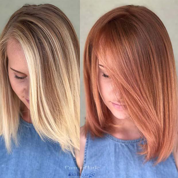 Copper Tone Strawberry Blonde Hair