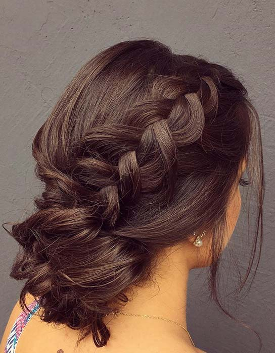 Elegant Braided Bun for Homecoming