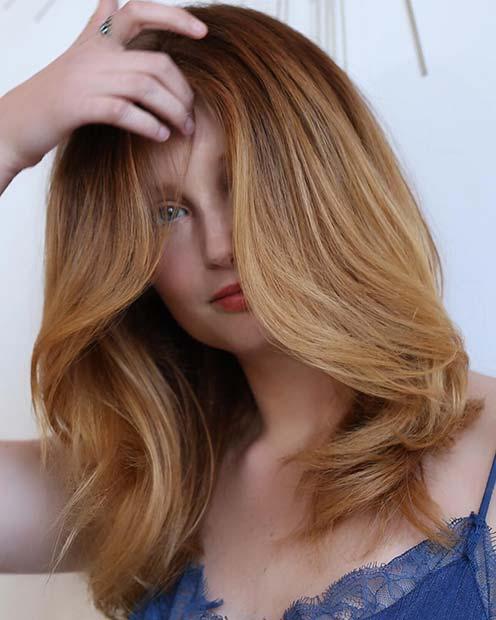 Light Strawberry Blonde Hair
