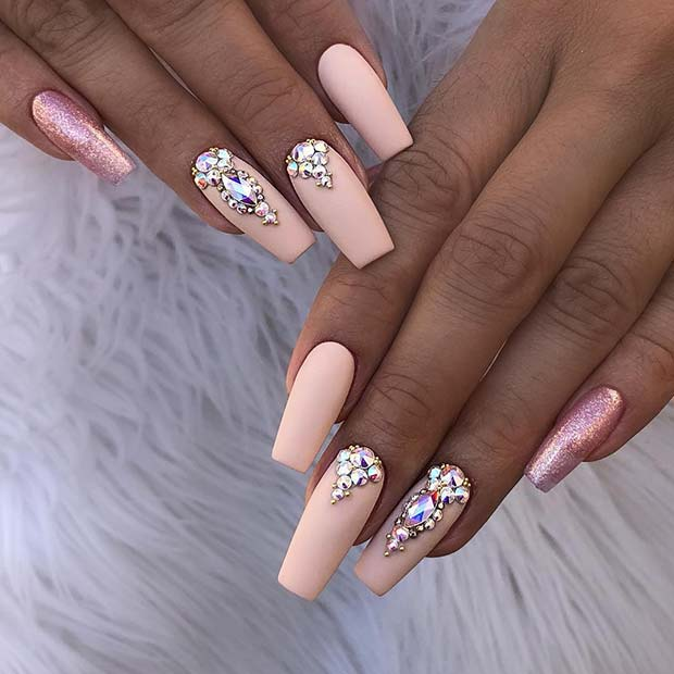 Stunning Nail Art Designs For Coffin Nails