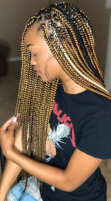 Honey Blonde Crochet Box Braids