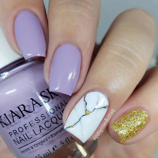 43 Jaw Dropping Ways To Wear Marble Nails Stayglam